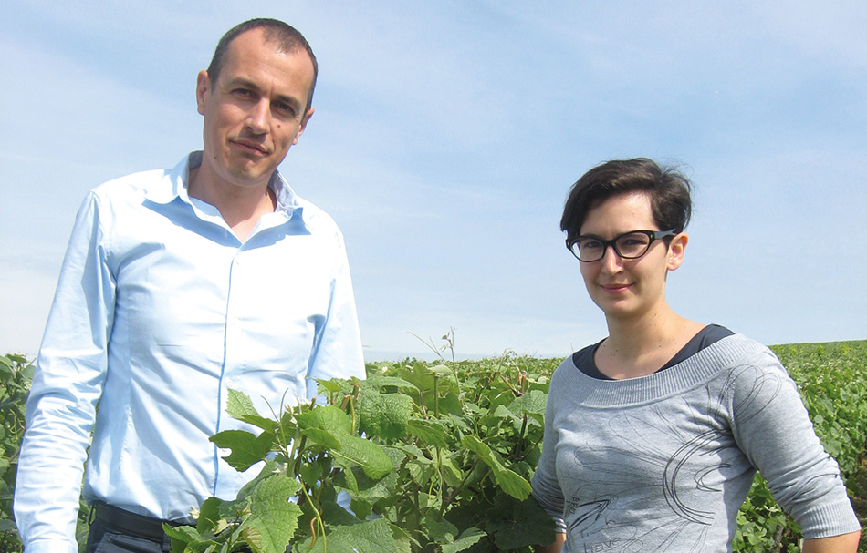 Samuel Ferjou, directeur export, et Marie Luce Thiéry, chef de cave.