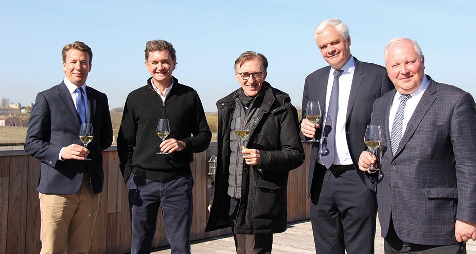 Jean-Emmanuel Danjoy, Philippe Sereys de Rothschild, Paolo Basso, Hervé Gouin et Philippe Dhalluin.