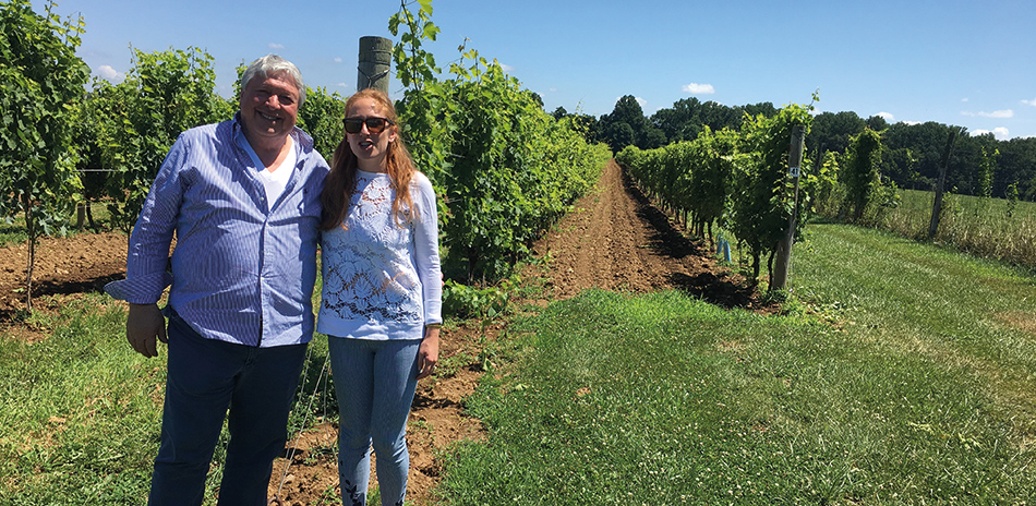 Gino Razzi, his daughter Carley, Penns Woods Winery.