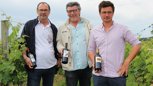 Patrick Clarens, Jean-Pierre Derouet et Hugues Laborde.