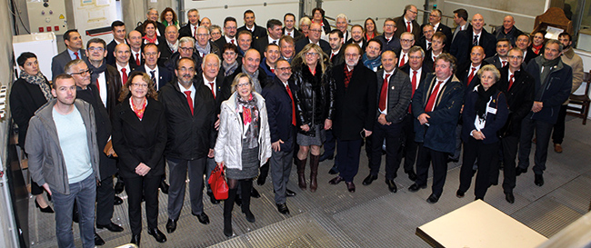 Outre les débats traditionnels qui accompagnent une assemblée, les membres de l'UDSF ont découvert le vignoble auvergnat en visitant notamment la cave Saint-Verny.
