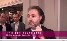 Degustation sommeliers international philippe faure brac