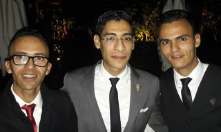 Zakaria Wahby entouré de Rabi Ahsina et d'Abdelghafour Sadik