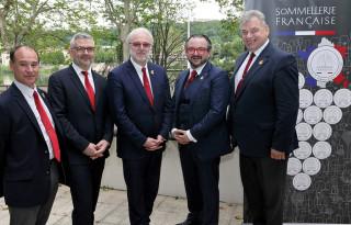 Les membres du nouveau bureau de l'UDSF avec, de gauche à droite, Frédéric Devautour, Arnaud Fatôme, Philippe Faure-Brac, Fabrice Sommier et Antoine Woerlé.