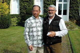 Nelson Chow avec Jean-Pierre Marty à Talbot