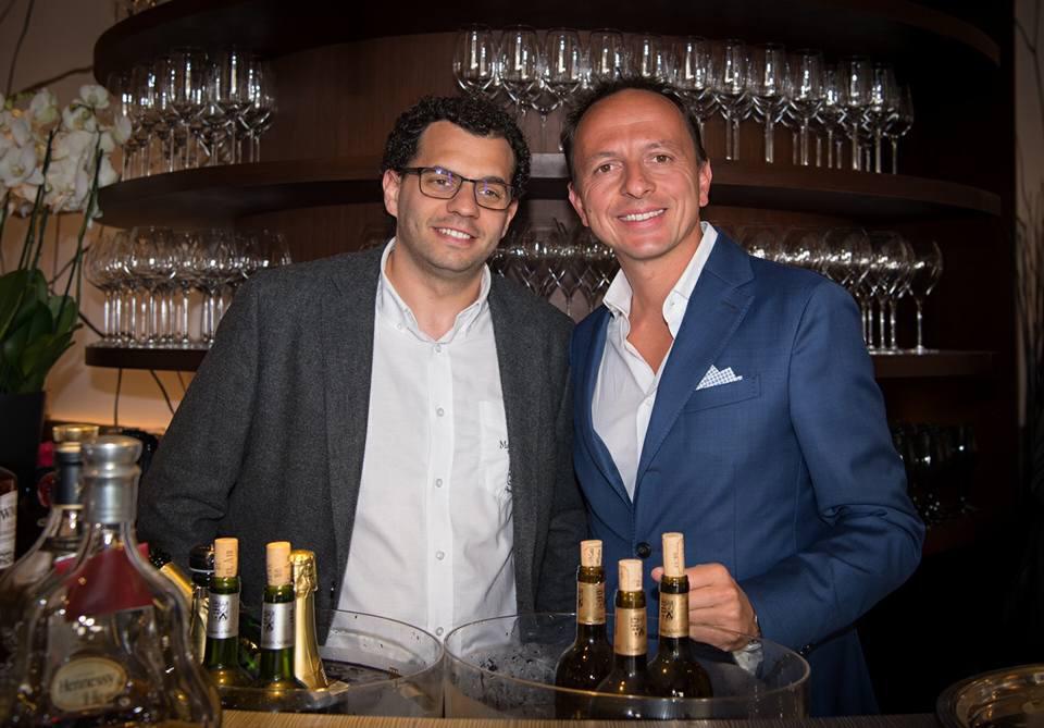 Bertrand Gonzalez, Directeur du Château Maison Noble Saint Martin et Enrico Bernardo, Meilleur Sommelier du Monde