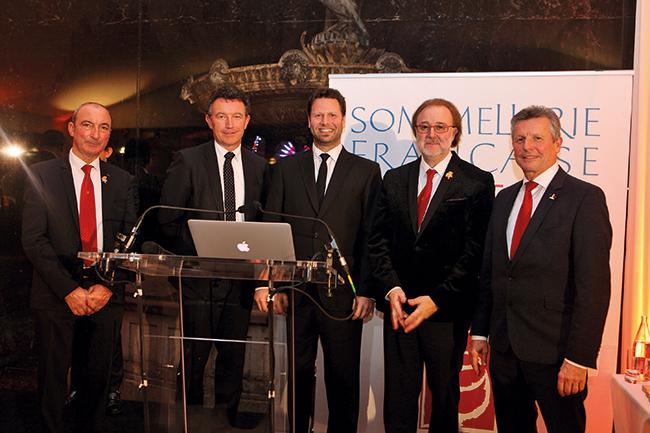 Michel Hermet, Franck Leroy (maire d'Epernay), Andres Rosberg, Philippe Faure-Brac et Serge Dubs